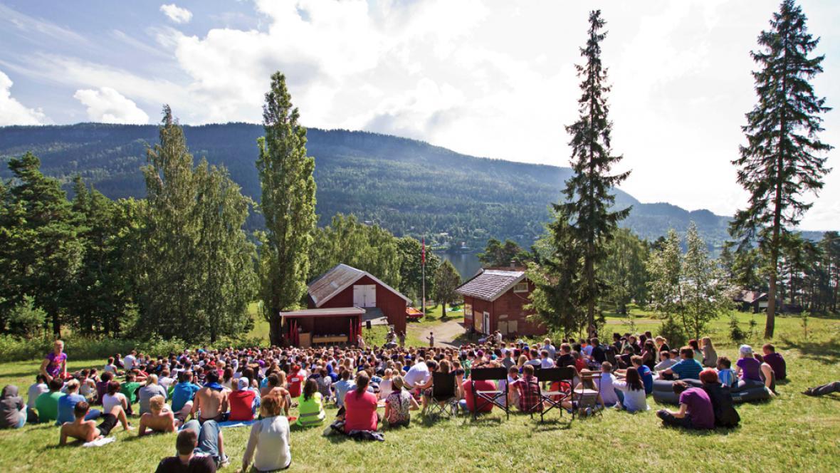 Mítink Norské dělnické strany na ostrově Utöya