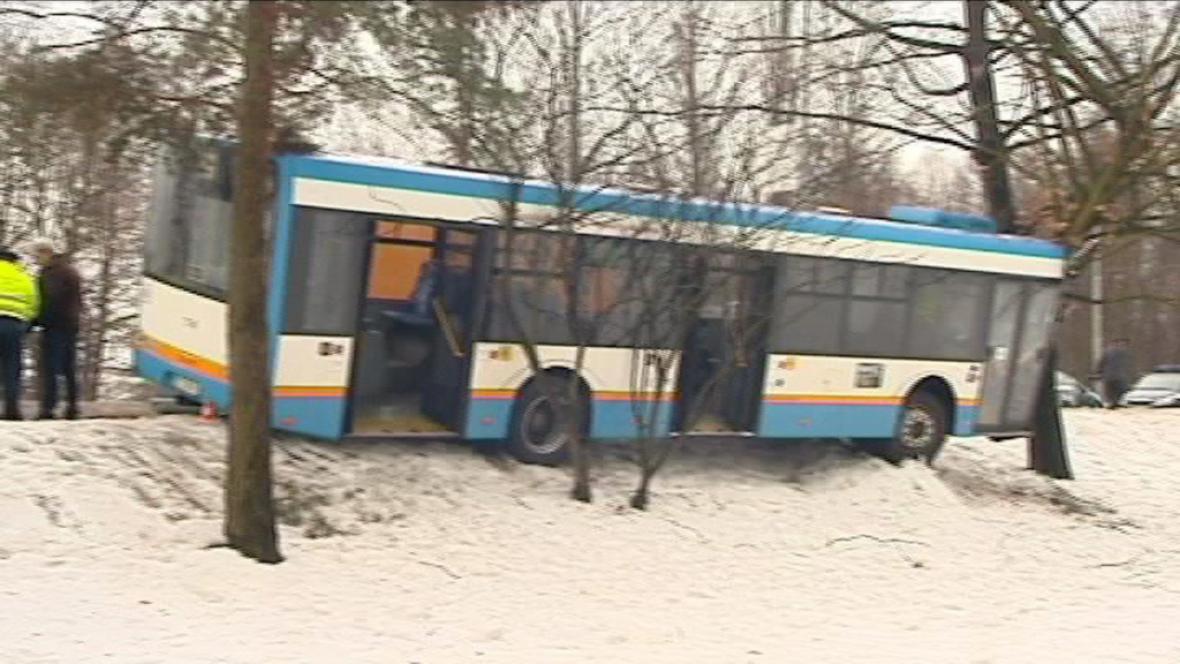 Havárie autobusu v Ostravě