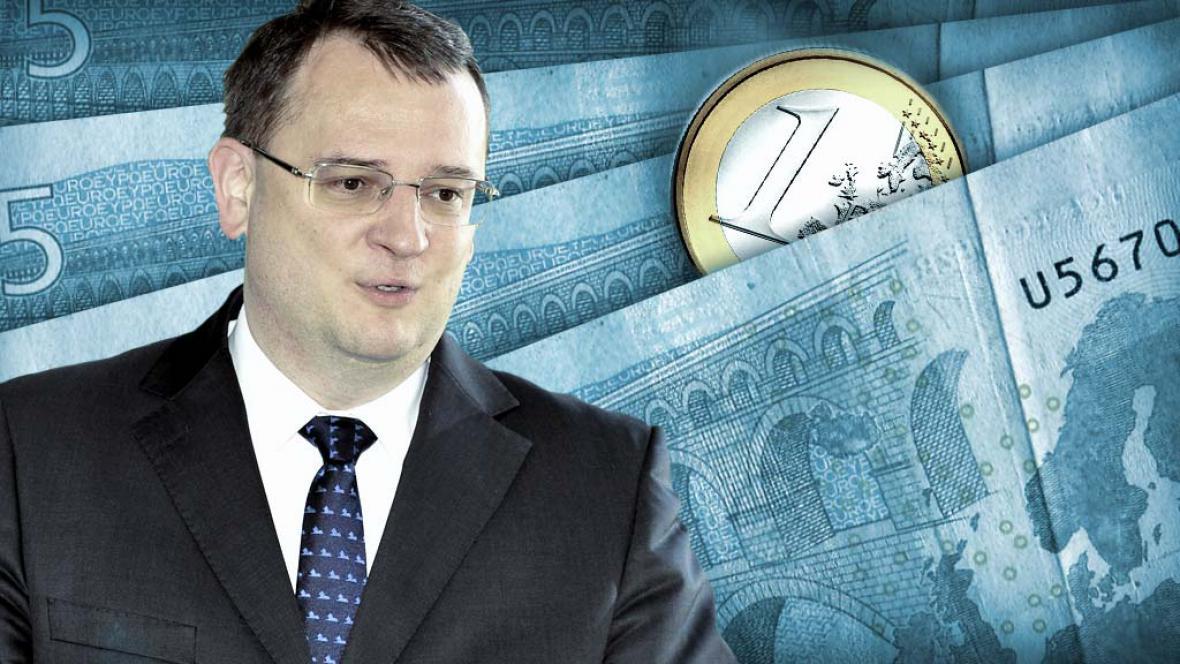 Petr Nečas a euro