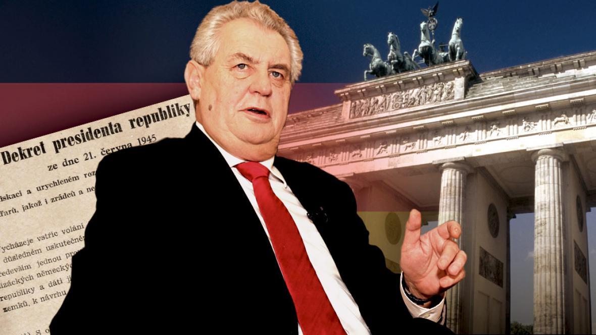 Miloš Zeman a Německo