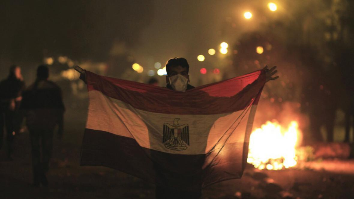 Protest v Káhiře