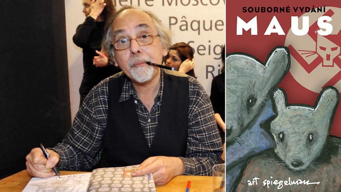 Art Spiegelman při autogramiádě a souborné vydání Maus v češtině