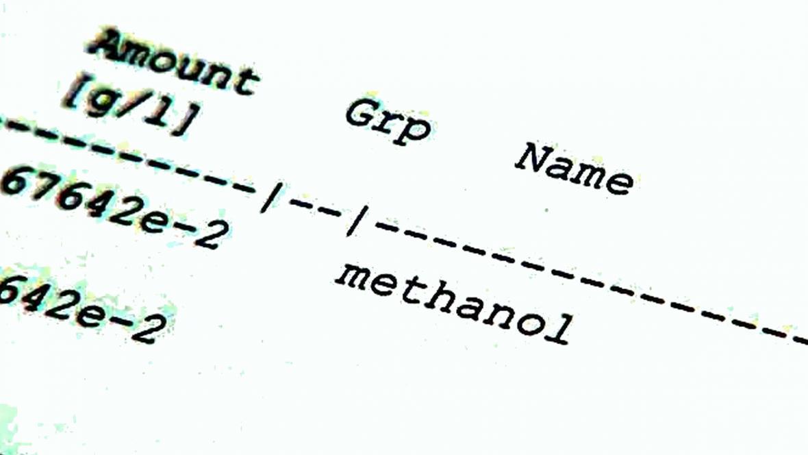 Testování metanolu