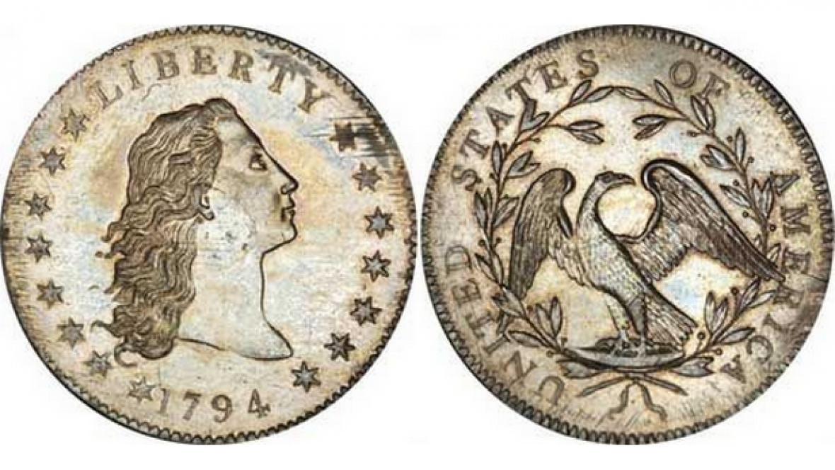 Stříbrný dolar byl vydražen za deset milionů dolarů