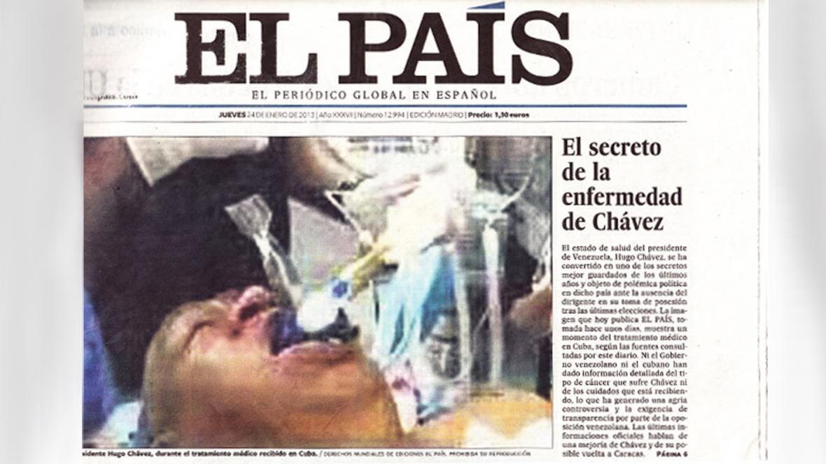 El País zveřejnil údajný snímek Cháveze
