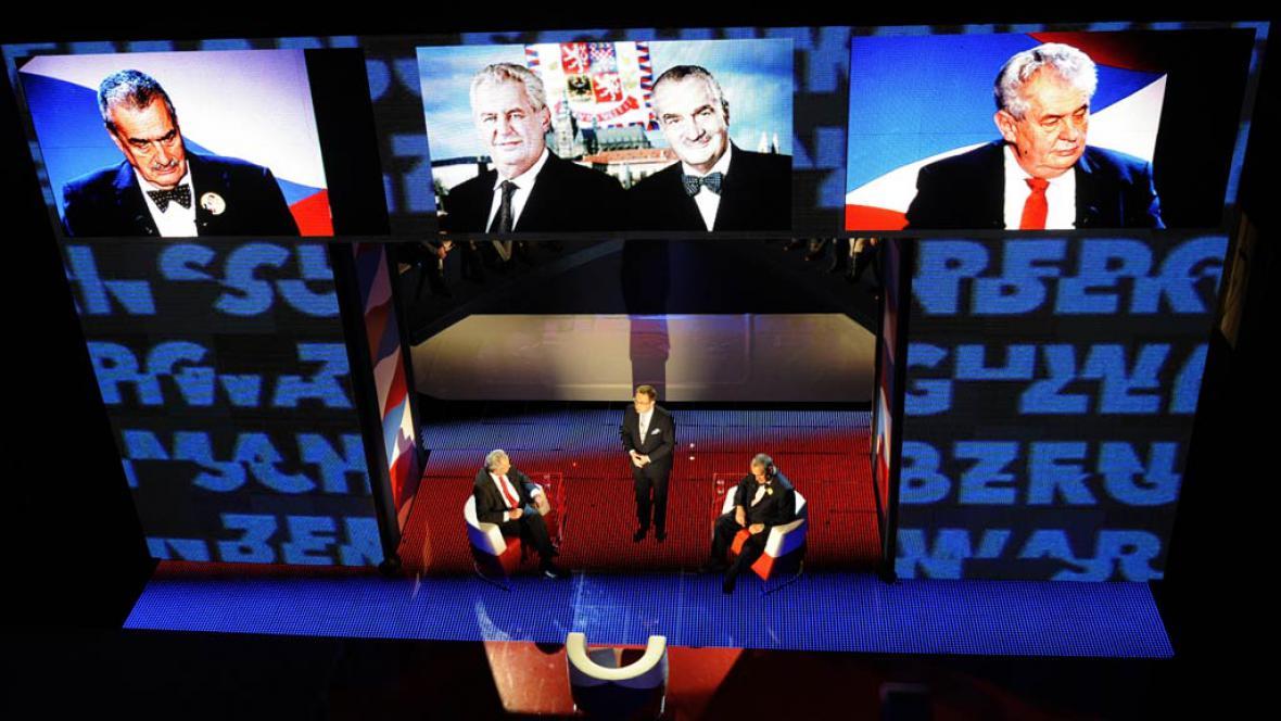 Z prezidentské debaty na ČT