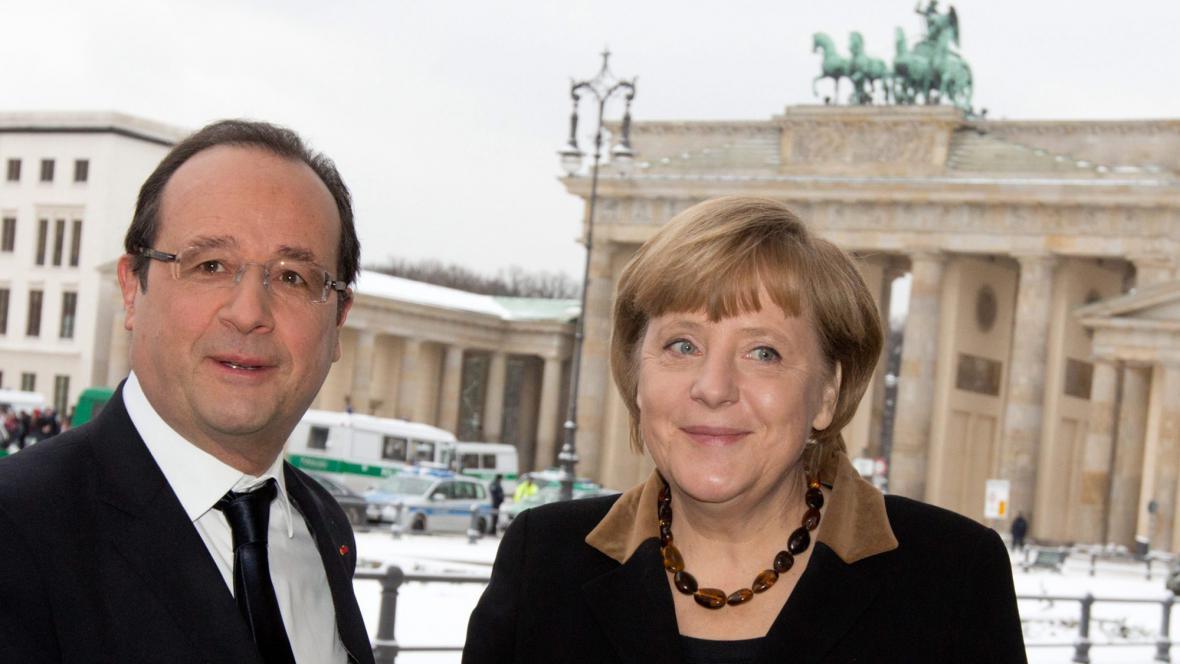 François Hollande a Angela Merkelová