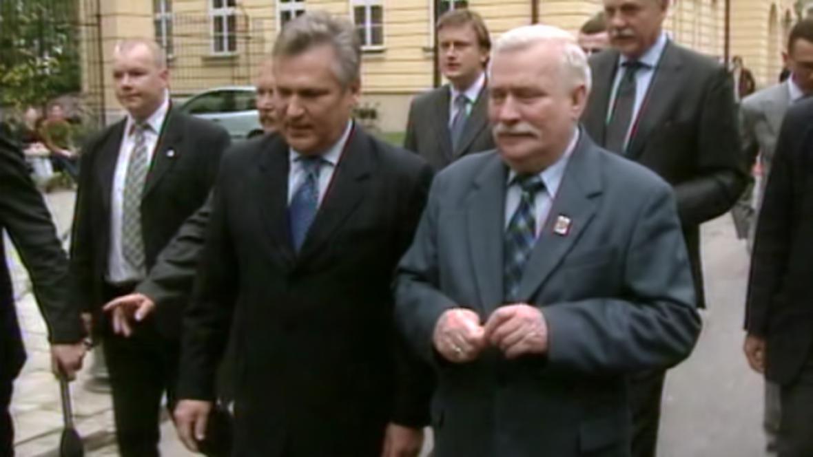 Aleksander Kwaśniewski a Lech Wałęsa