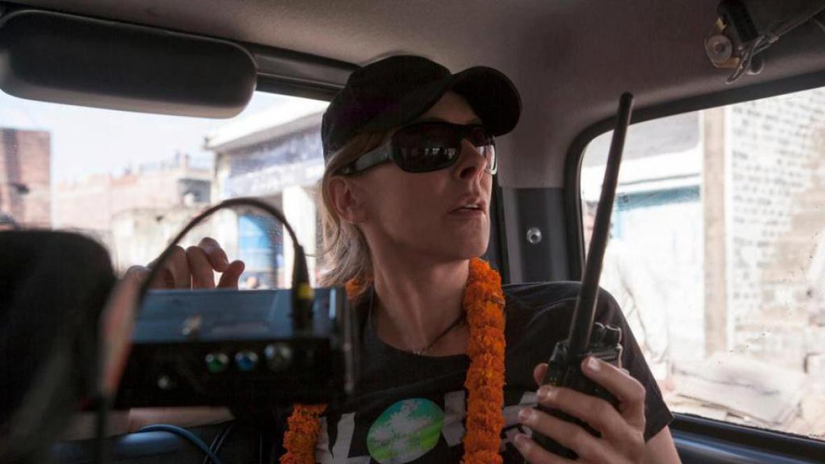 Kathryn Bigelowová při natáčení Zero Dark Thirty