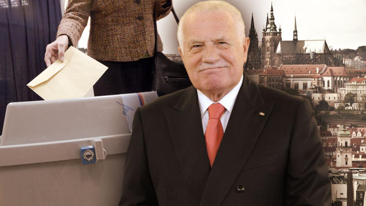 Václav Klaus půjde volit