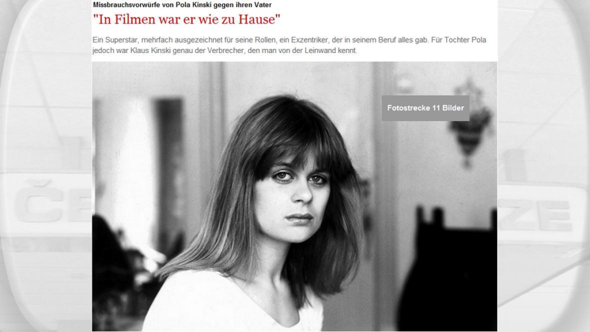Pola Kinski promluvila pro Stern