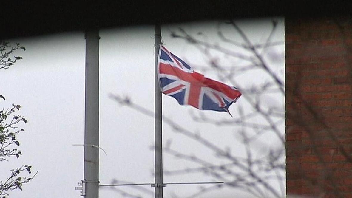 Vlajka na radnici v Belfastu