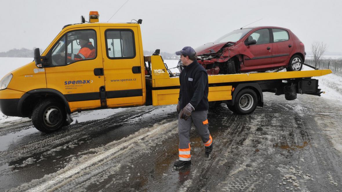 Nehoda v úseku mezi obcemi Krčmaň a Kokory