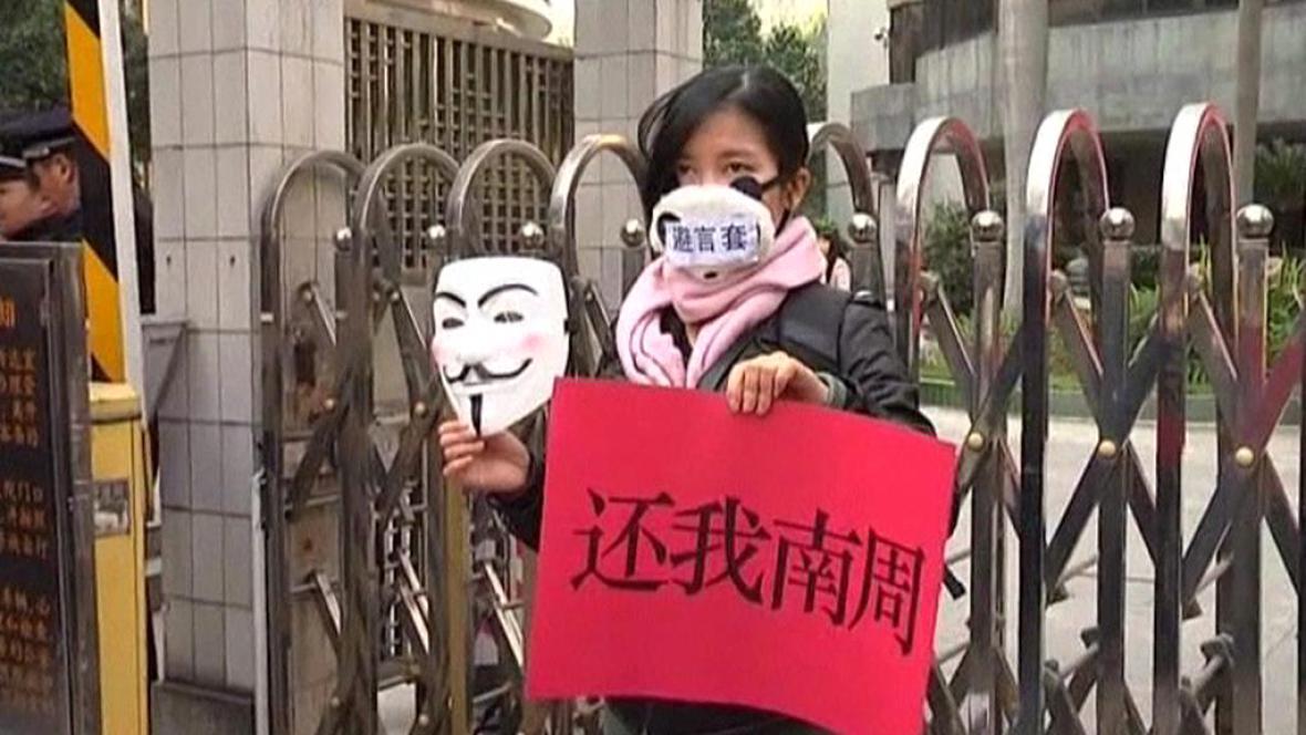 Čínský protest proti cenzuře