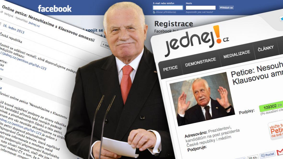 Václav Klaus a internetové reakce na amnestii