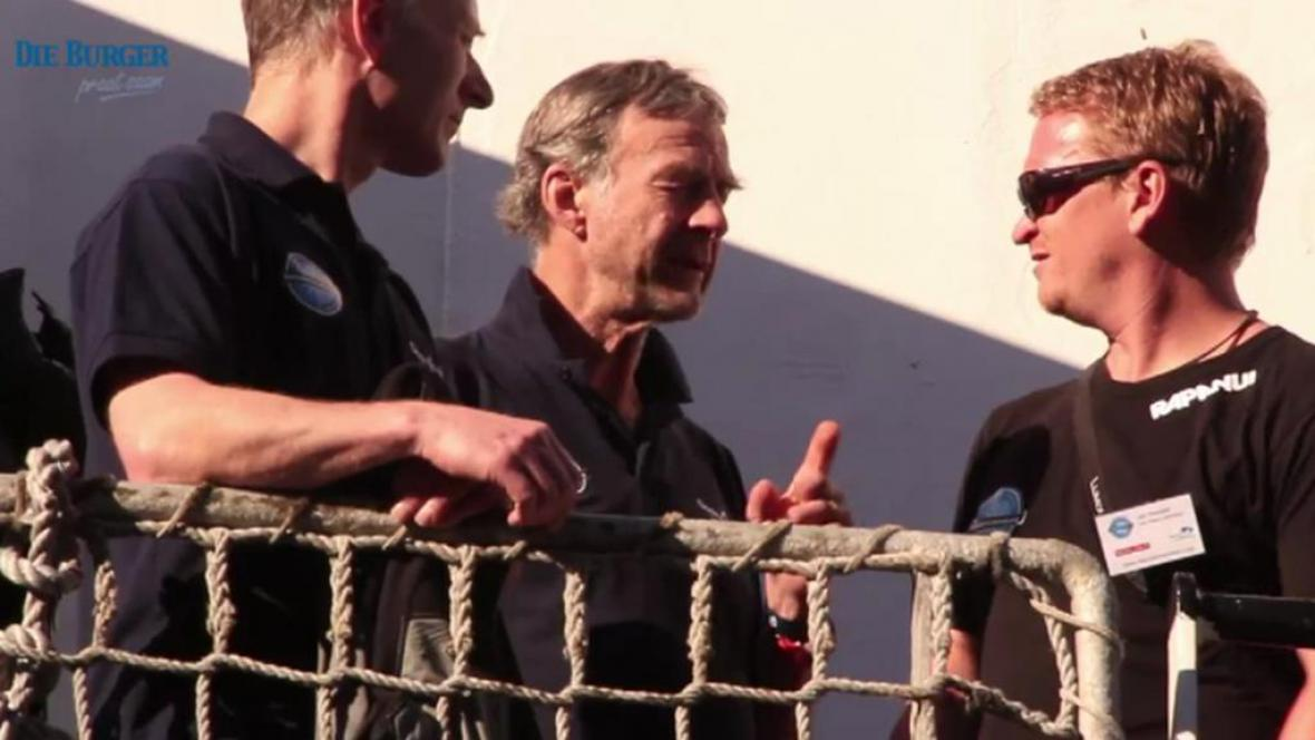 Ranulph Fiennes (uprostřed) před misí na Antarktidu