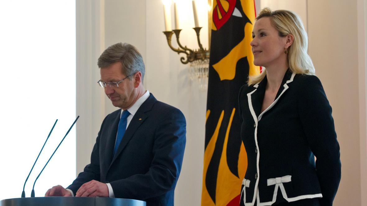 Christian Wulff s manželkou Bettinou