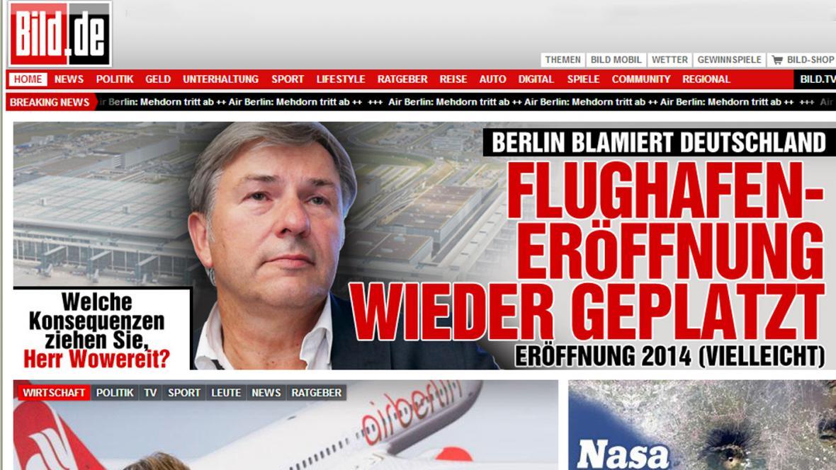 Bild o berlínském letišti