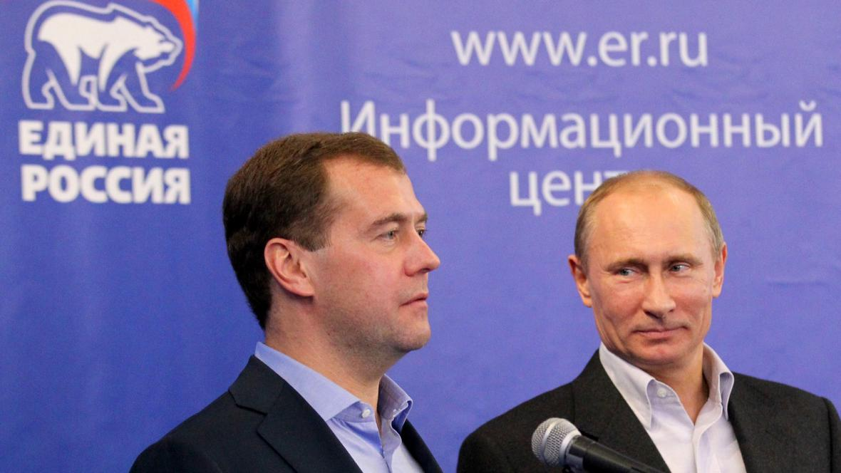 Dimitrij Medvěděv a Vladimir Putin