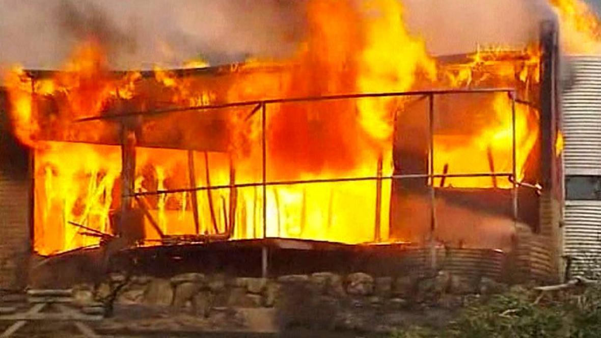 Ničivé požáry v Tasmánii