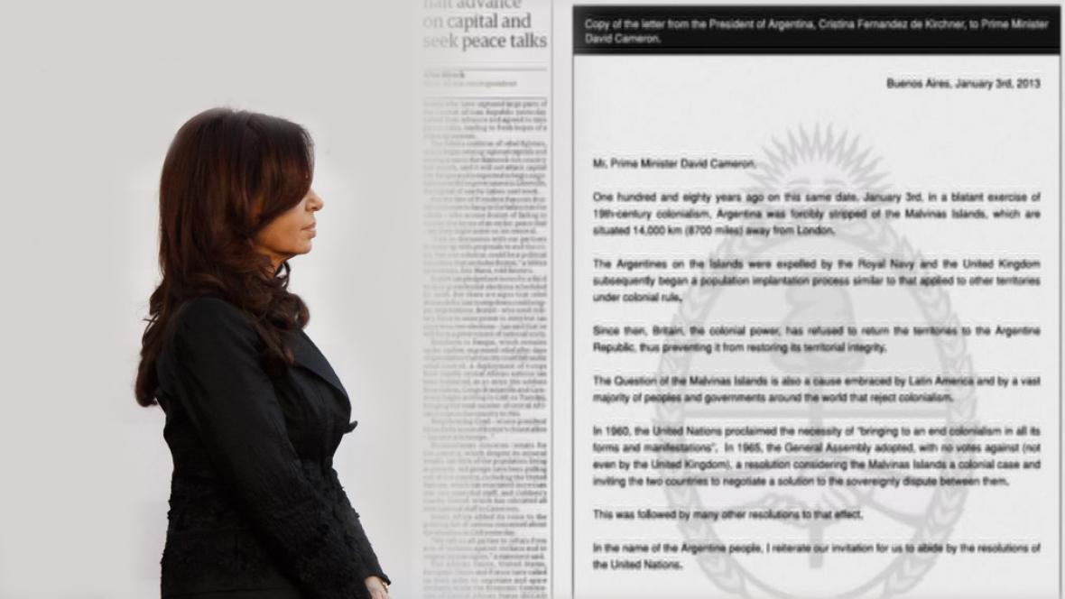 Otevřený dopis Cristiny Fernándezové v britských denících
