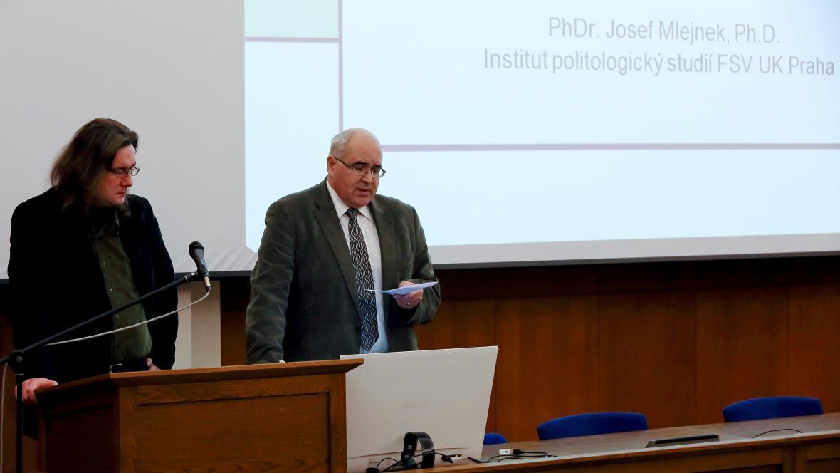 Přednáška Josefa Mlejnka na Karlově univerzitě