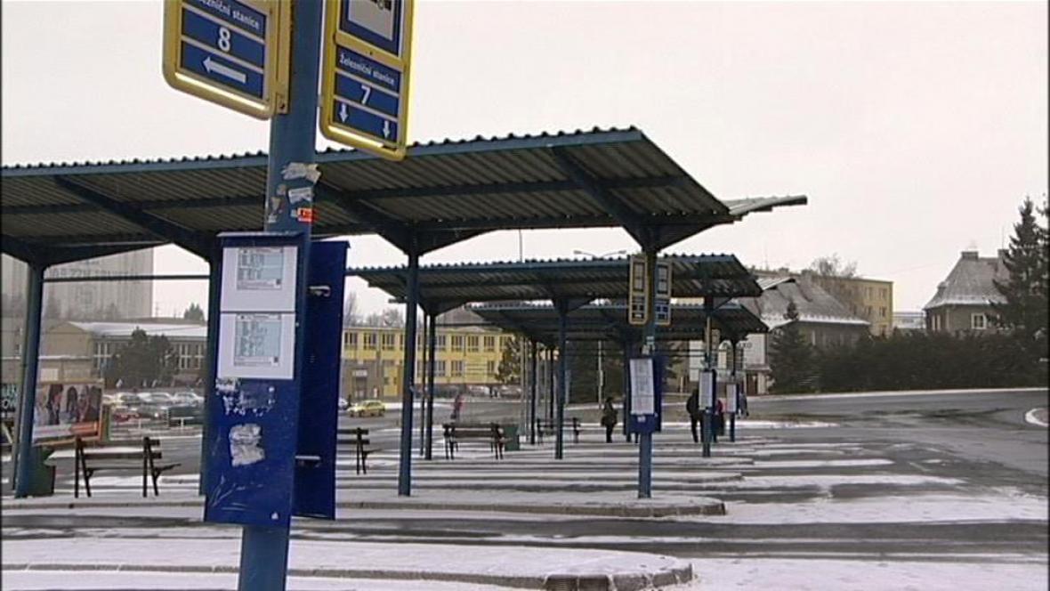 Autobusové nádraží v Bruntále