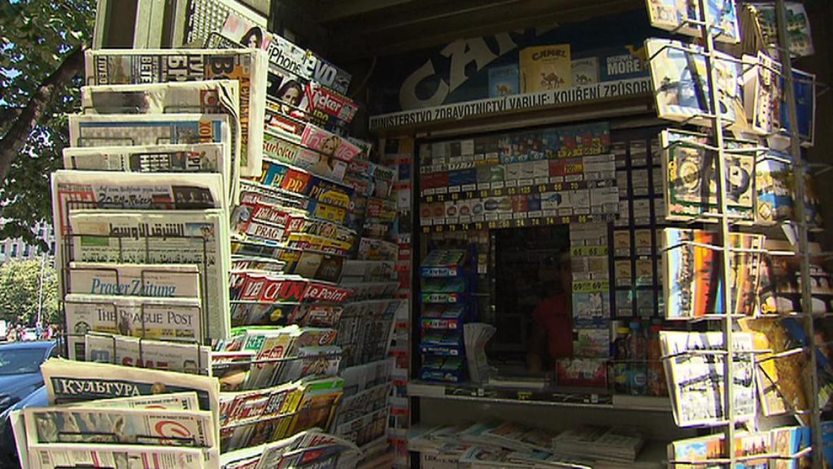 Novinový stánek na Václavském náměstí
