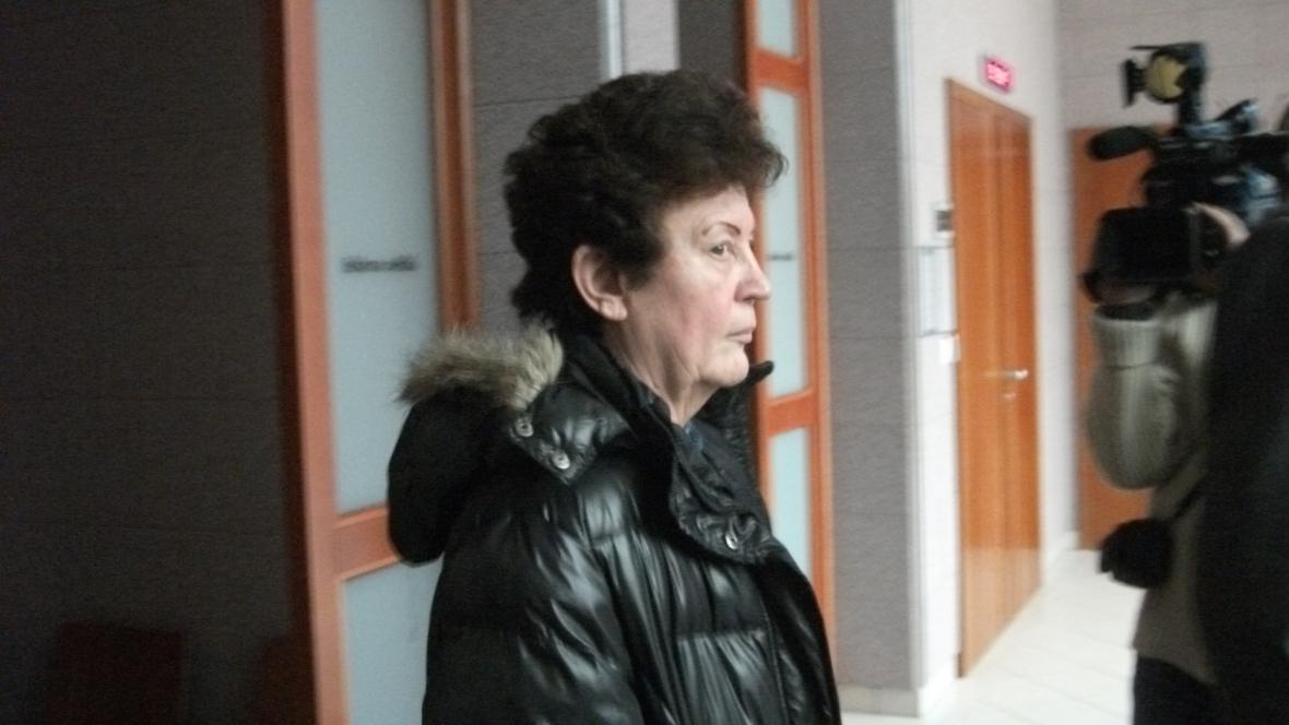 Sociální pracovnice Lea Petříčková u soudu