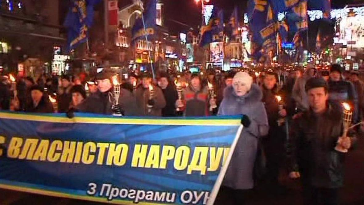Ukrajinci slavili výročí narození Stepana Bandery