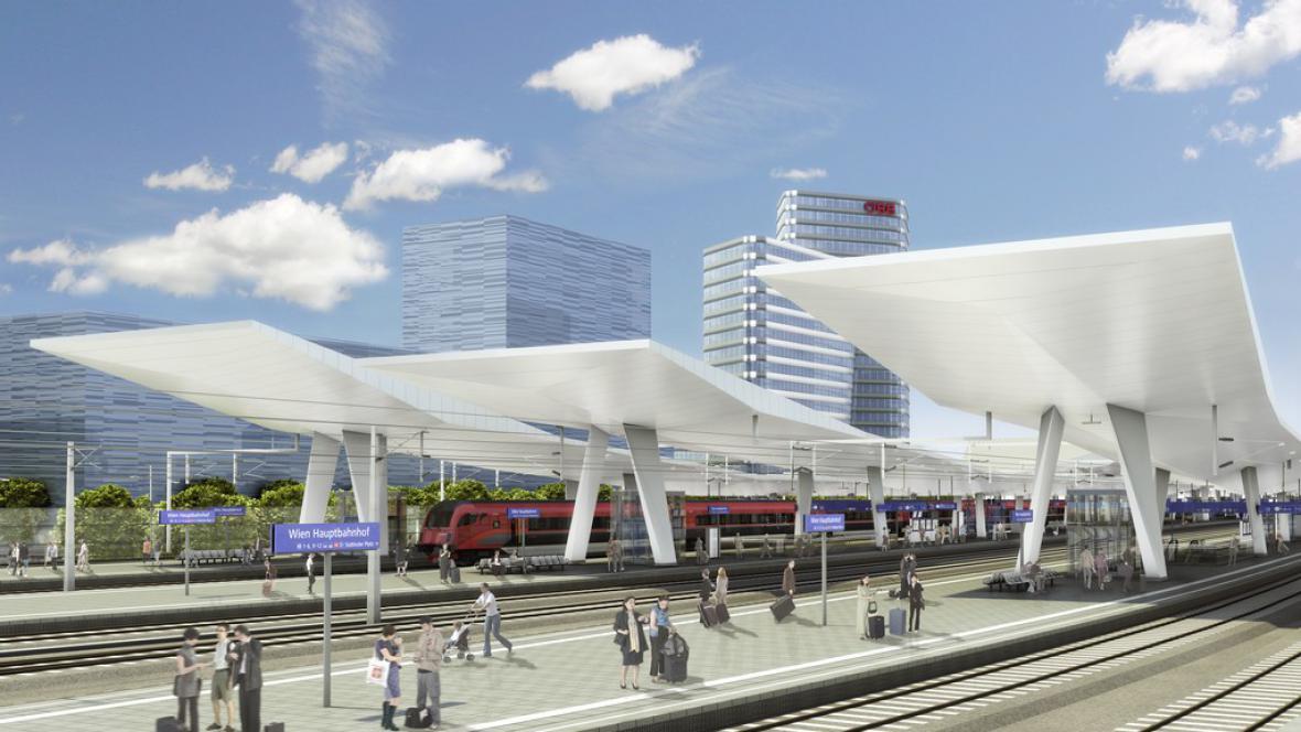Hlavní nádraží ve Vídni (vizualizace)