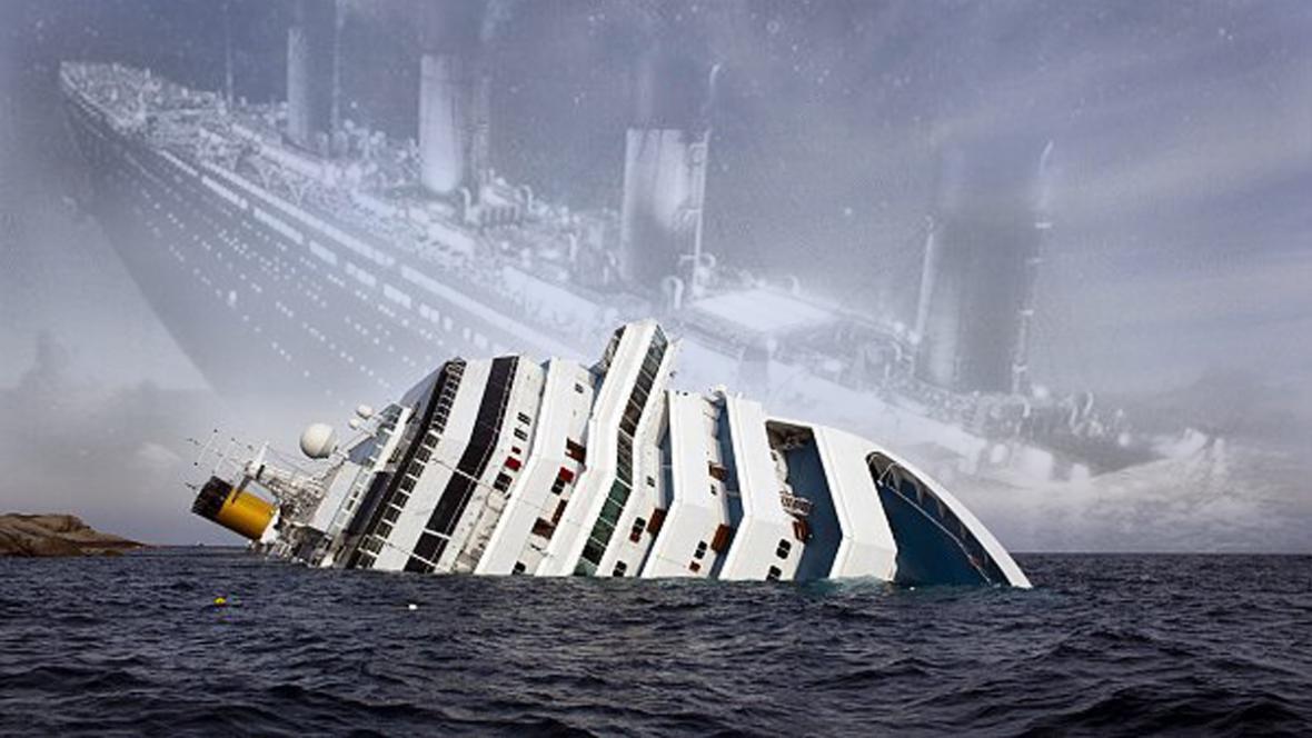 Costa Concordia ztroskotala v roce, kdy si svět připomněl 100. výročí zkázy Titaniku