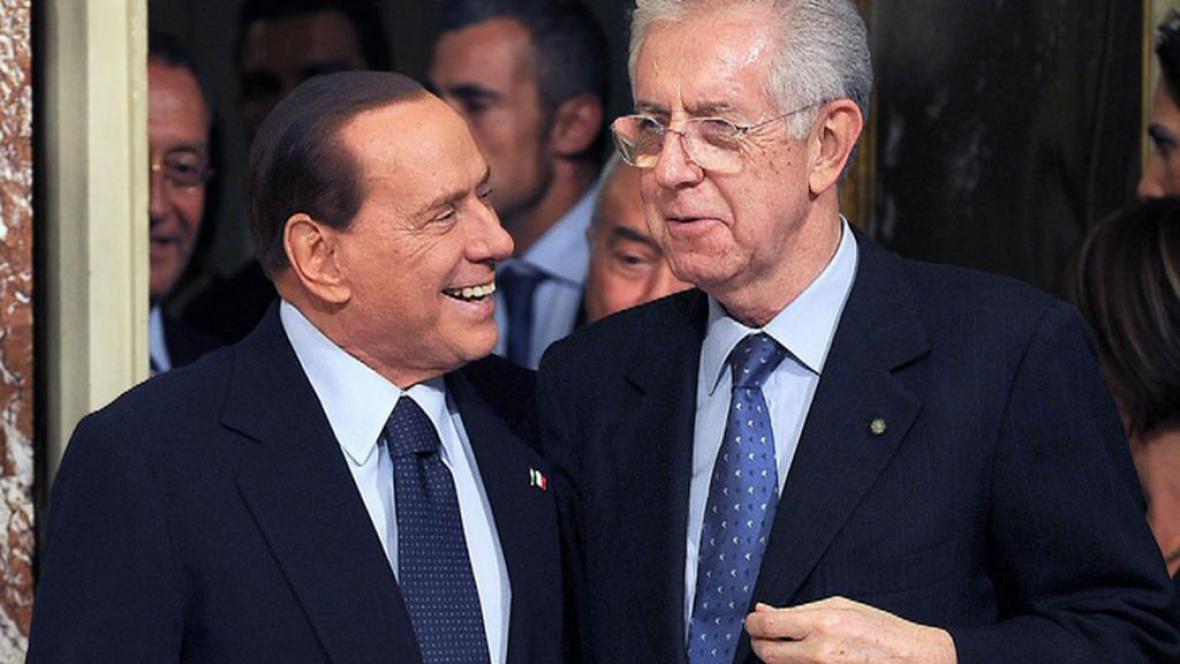 Silvio Berlusconi a Mario Monti