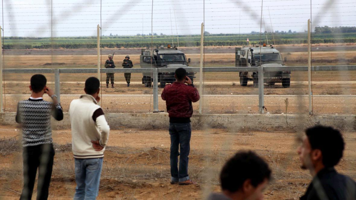 Hranice mezi Gazou a Izraelem