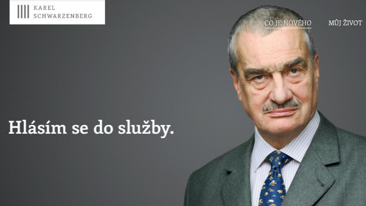 Prezidentský web Karla Schwarzenberga