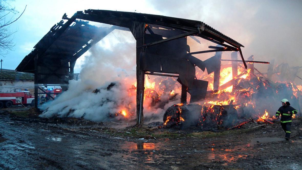 Požár v Borotíně