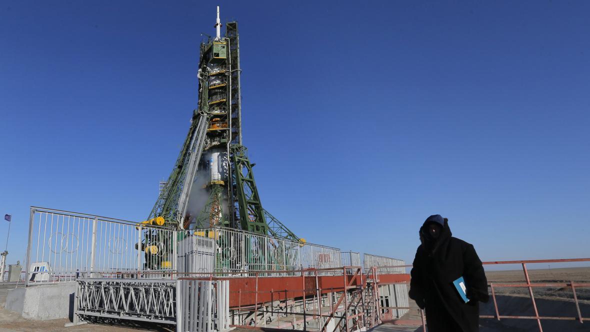Sojuz se chystá ke startu