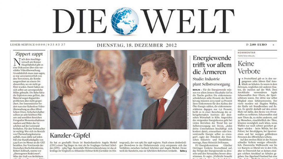 Die Welt z 18. prosince 2012