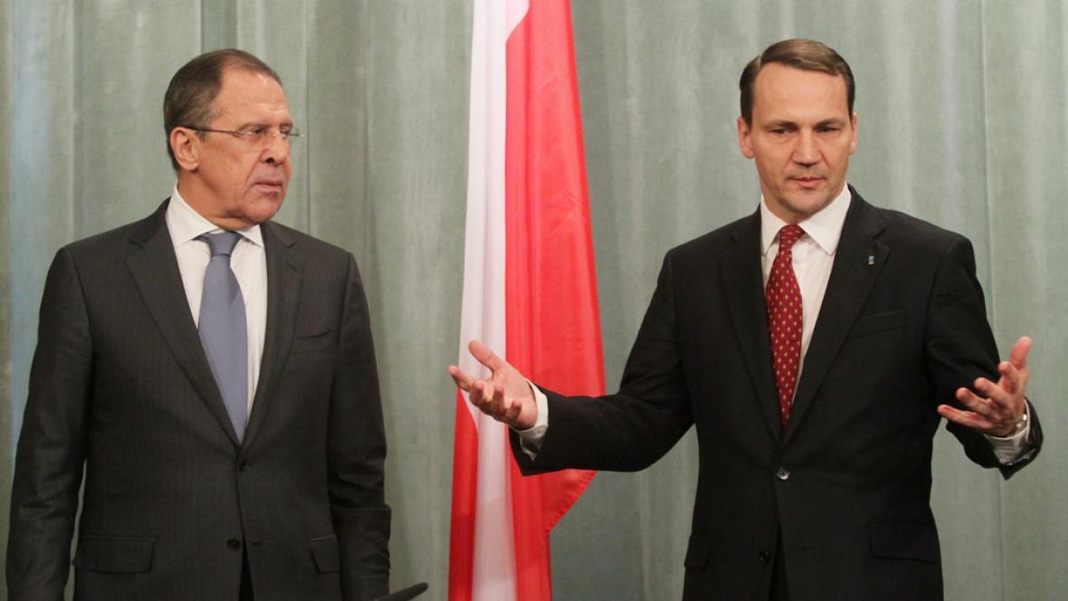 Sergej Lavrov a Radoslav Sikorski