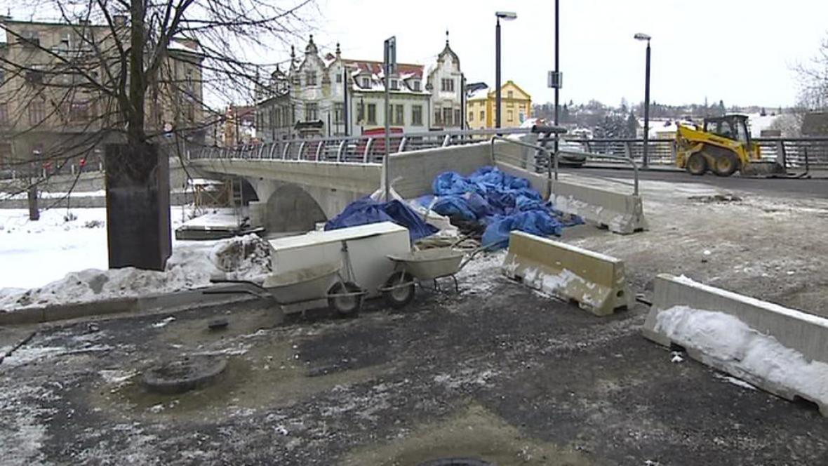 Most u kostela sv. Kateřiny v Havlíčkově Brodě
