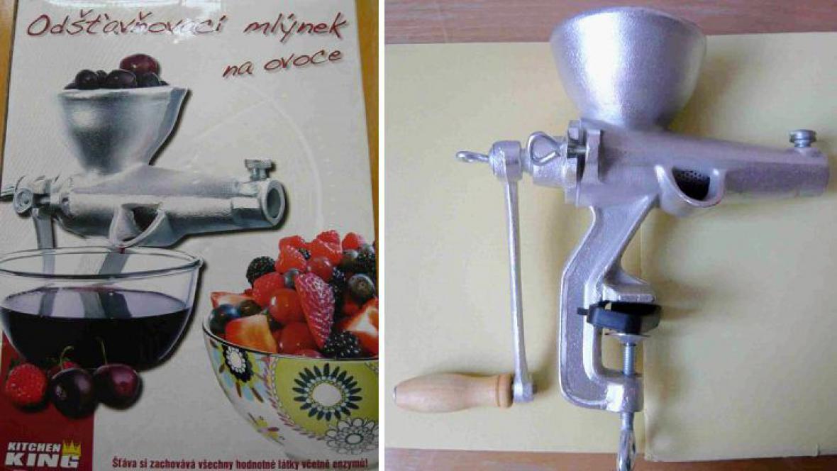 Závadný mlýnek na ovoce