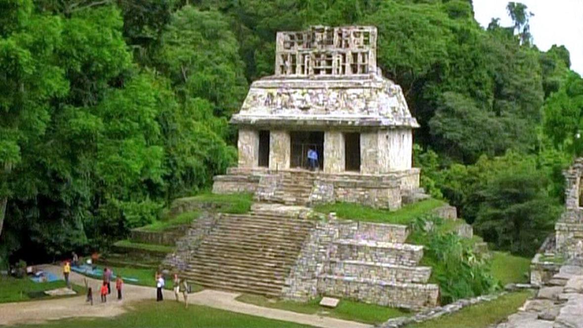 Hrob mayského panovníka v mexickém Palenque