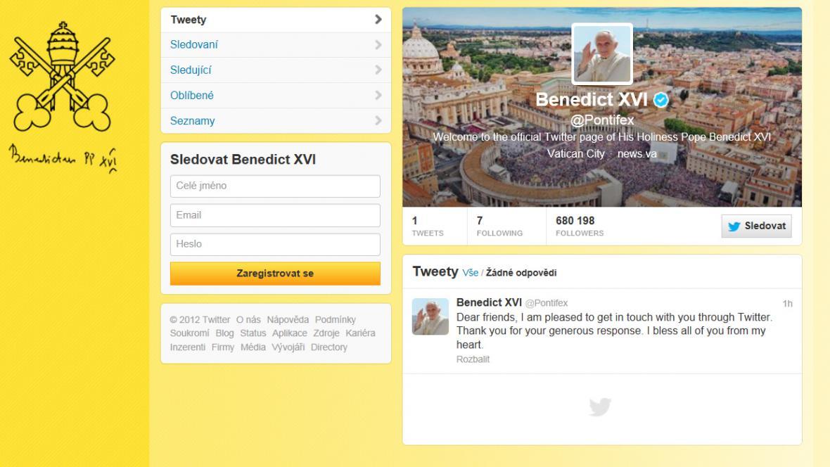 První papežův oficiální tweet