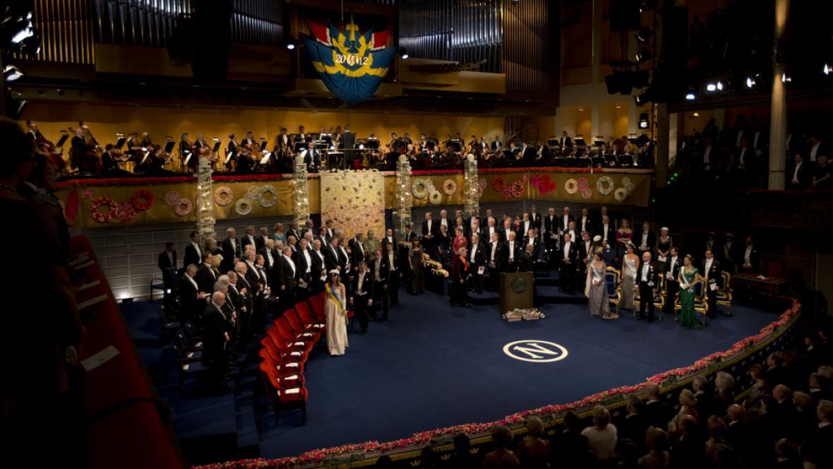Předávání Nobelových cen ve Stockholmu