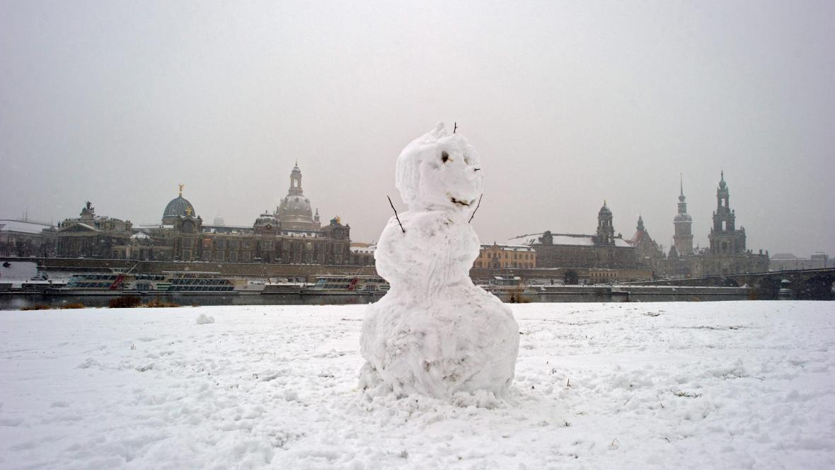 Sněhulák v Drážďanech