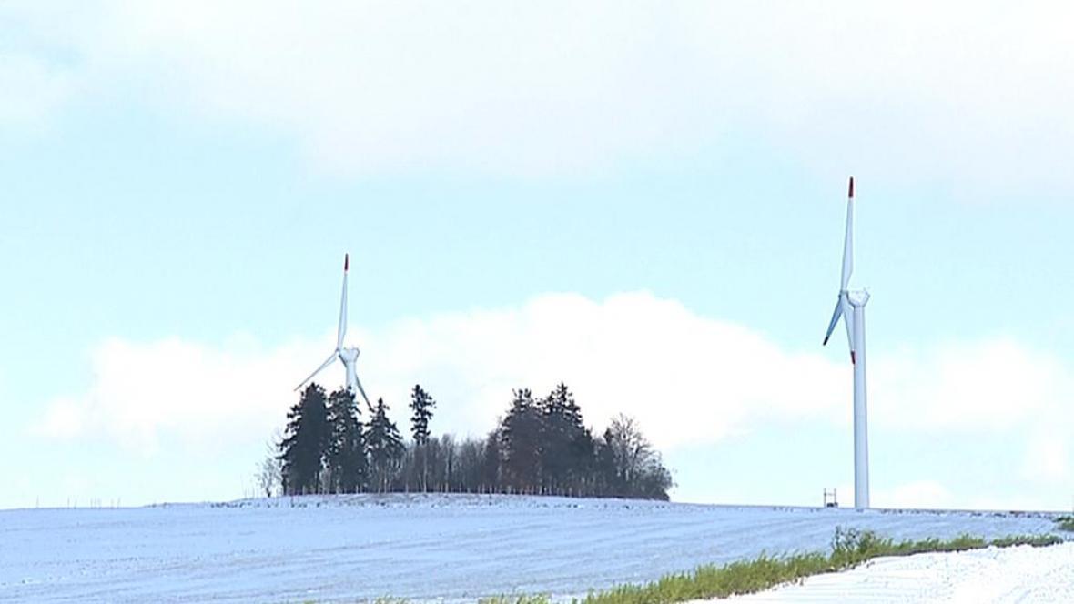 Větrný park u Protivanova