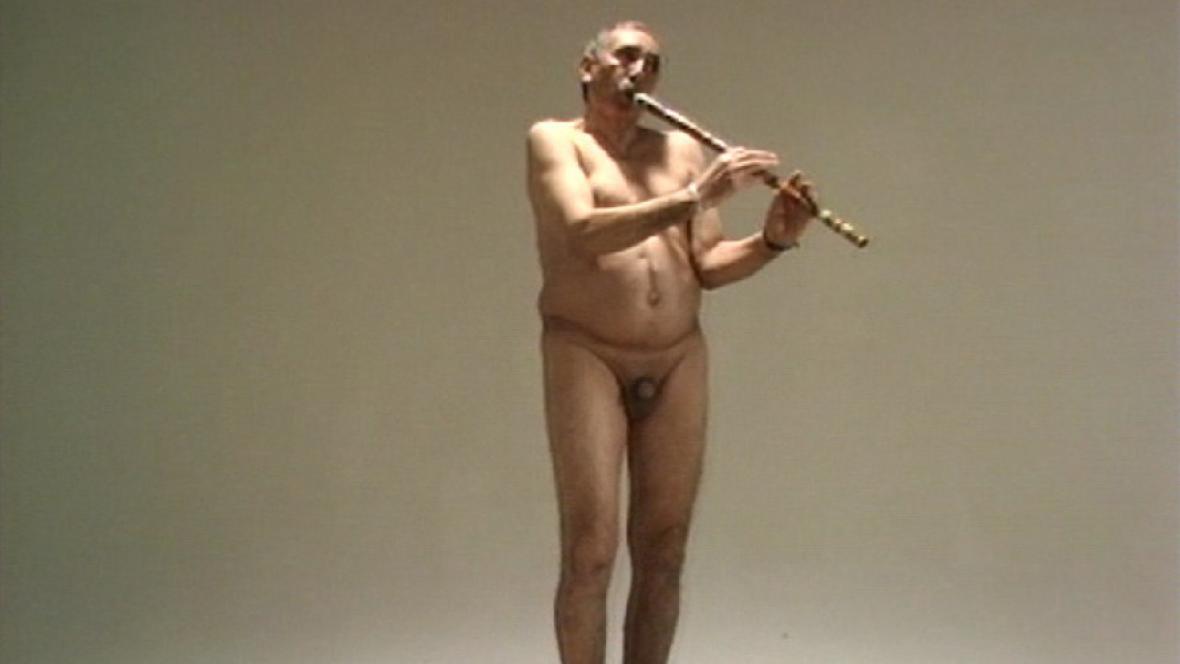 Adel Abdessemed / Hráč na flétnu, 1996