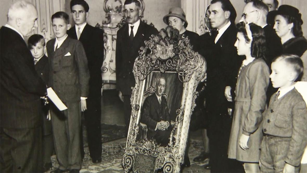 Obraz prezidenta Beneše od Anny Šrámkové