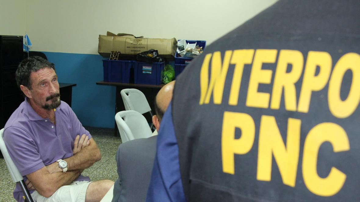 V Guatemale zatkli Johna McAfeeho