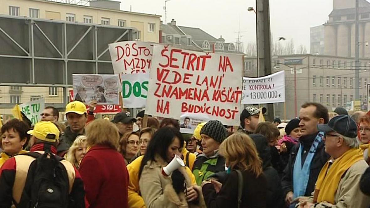 Stávka slovenských školských odborů